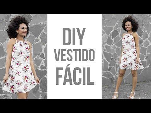 69b21040a DIY VESTIDO DE TECIDO VISCOSE PARA O VERÃO - MODELAGEM E COSTURA NEA  SANTTANA