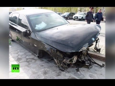 Безработный рецидивист на BMW снес военный мемориал в Ханты-Мансийске
