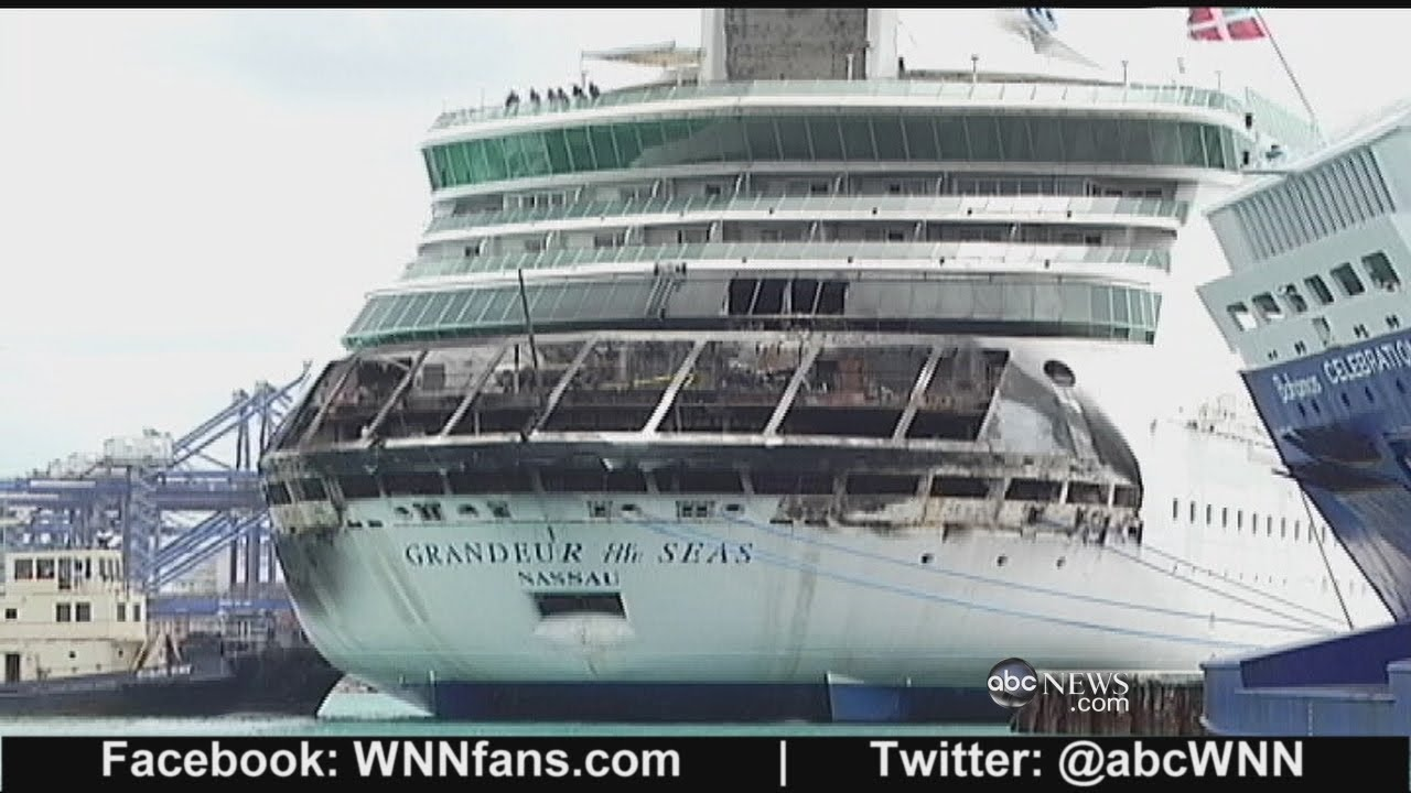 Grandeur Of The Seas Cruise Ship Catches Fire Youtube