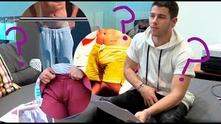 Nick Jonas plays Guess The Bulge featuring Harry Styles, Justin Bieber, Zac Efron and more