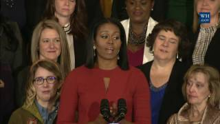 The First Lady Honors the 2017 School Counselor of the Year