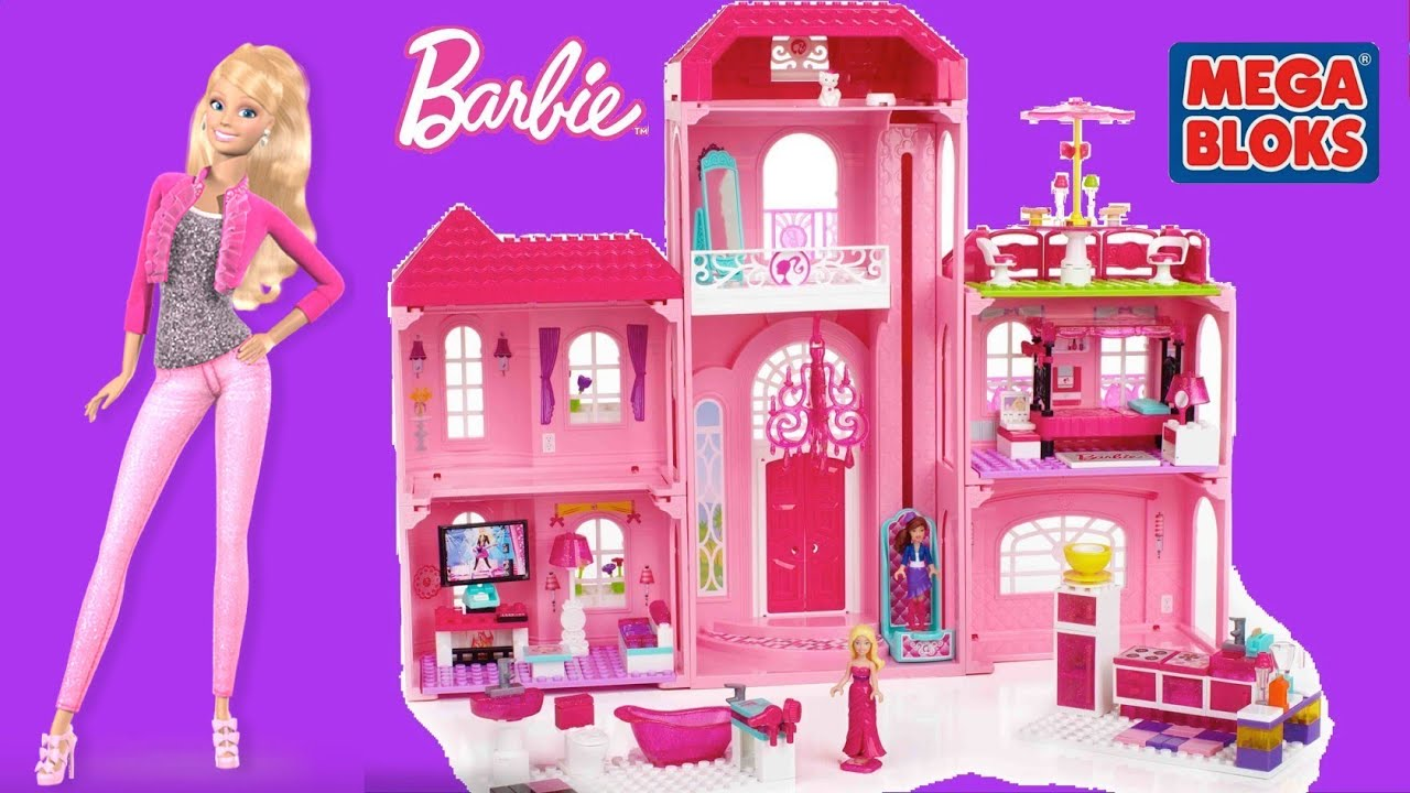 Mega Bloks Barbie Build N Style Luxury Mansion With Barbie