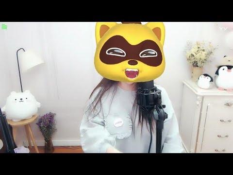 中國-菲儿 (菲兒)直播秀回放-20181226 這隻YY熊眼睛真大~還會唱歌!