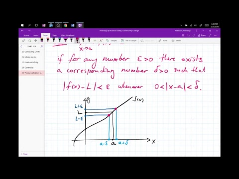 Nik's Live Calculus Stream (Calculus1 2.7 Precise Definition of the LImit)