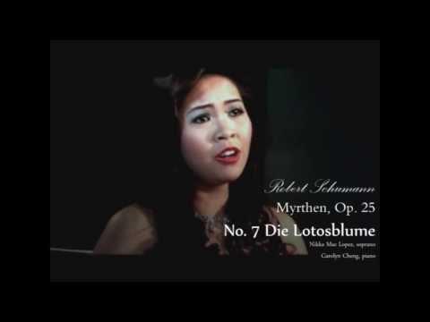 Шуман Роберт - Die Lotosblume, Op. 25 No. 7