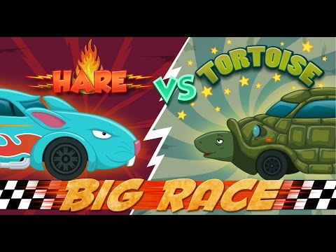 Hare VS Tortoise | An Aesop's Fable | Cars Race For Kids | Racing Videos | Sports car
