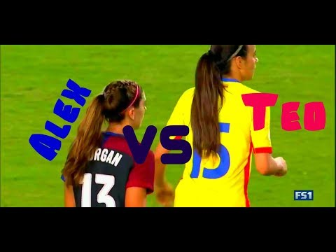 Alex Morgan vs Teo Meluță/USWNT - Romania
