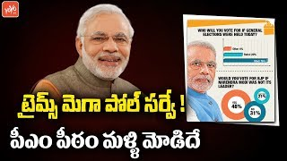 Narendra Modi will Become Prime Minister Again | Times Mega Poll Survey!