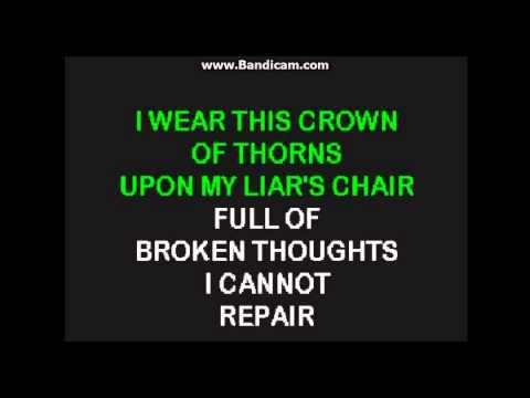 Hurt- Johnny Cash Karaoke lyrics