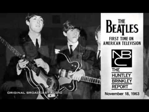 BEATLES FIRST TIME ON AMERICAN TV! NBC News Nov. 18, 1963