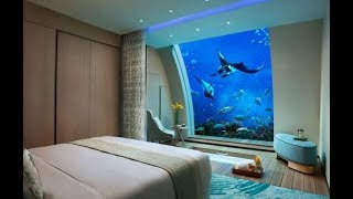The world's coolest underwater hotel rooms.