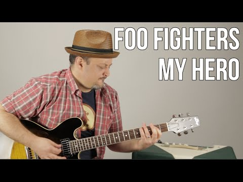 Foo Fighters - My Hero - Guitar Lesson - How To Play On Guitar - Tutorial, Rock Guitar