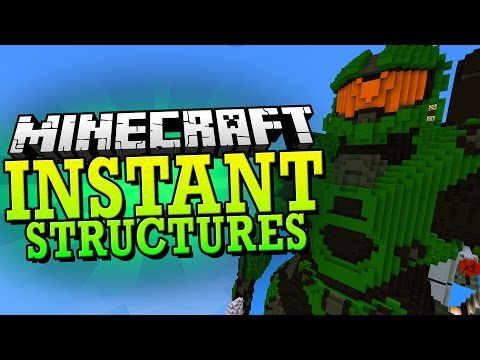 Minecraft 1.8 Mod | INSTANT STRUCTURES MOD (170+ Structures to Pick From) - Minecraft Mod Showcase