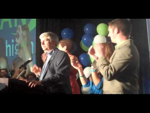Rick Snyder's victory speech