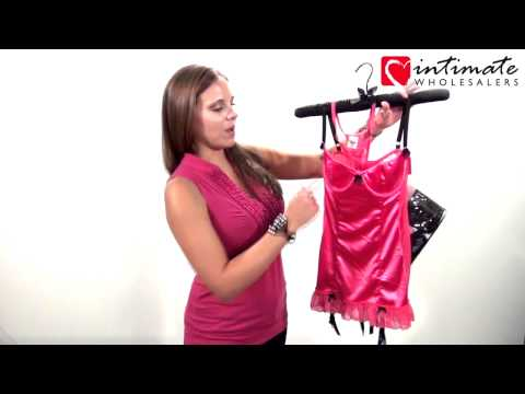 Intimate Wholesalers Lingerie Review: Stretch Satin Babydoll Set By Dreamgirl - Dg3644 video