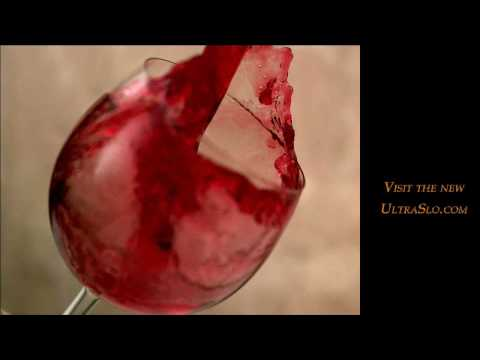 Slow motion Wine in UltraSlo motion