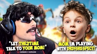 """MOMM! IM PLAYING WITH DRDISRESPECT"" ▪ DrDisRespect Trolls Kids on Fortnite (12/28/18)"