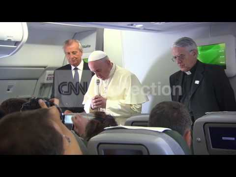 SOUTH KOREA: POPE FRANCIS MOMENT OF SILENCE