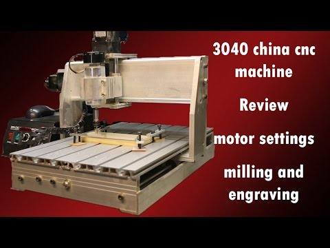 3040 China CNC   Review   motor settings   milling and engraving
