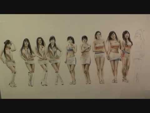SpeedPainting 10 Cute Asian Girls