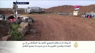قوات النظام تقصف المشافي في بصرى الشام