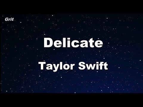 Download Lagu  Delicate - Taylor Swift Karaoke 【No Guide Melody】 Instrumental Mp3 Free