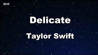 Download Lagu Delicate - Taylor Swift Karaoke 【No Guide Melody】 Instrumental Gratis STAFABAND
