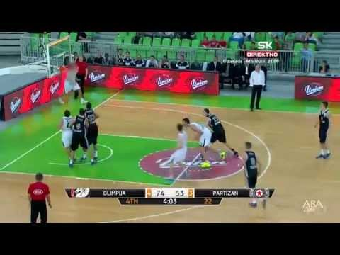 The Most Amazing Basketball Shot Ever! Olimpija - Partizan 87:58 video