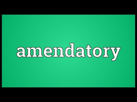 Header of amendatory