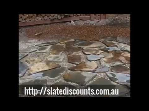 How to Lay Crazy Paving Flagstone Part 1 of 2