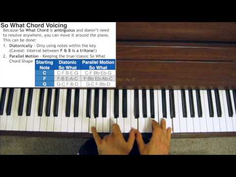 Jazz Piano Chord Voicings - So What Chord