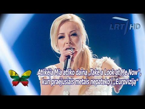 """Nacionalinės Atrankos Finale Mia Atliko Dainą """"take A Look At Me Now"""" (2015) Hd video"""