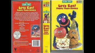 123 Sesame Street Home Video Let's Eat Funny Food Songs