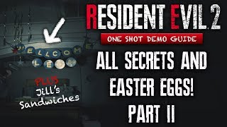 Resident Evil 2 Remake Demo ALL SECRETS & Easter Eggs You May Have Missed Part 2