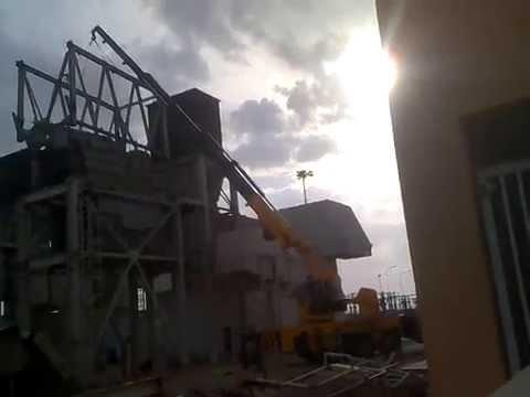 Merjan Dhofar Renting Service : 50 tons Crane Working ( Heavy Construction Equipment )