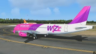 Wilco Airbus A320   Wizz Air 2361 from Budapest to Bari [FSX DX10]