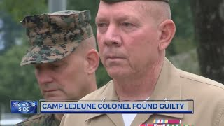 Camp Lejeune colonel found guilty of sexually abusing a child, other charges