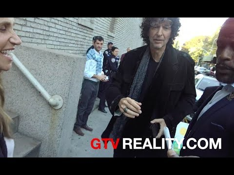 Howard Stern with fans outside Jimmy Kimmel Live
