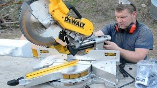 DEWALT 779 (DWS780) Double Bevel Compound Sliding Miter Saw Unboxing