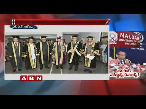 Governor Narasimhan addressed at 16th Convocation Of Nalsar University | Hyderabad