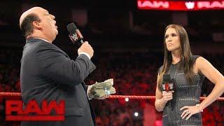 Paul Heyman spricht über Brock Lesnars Handlungen beim SummerSlam: Raw, 29. August 2016