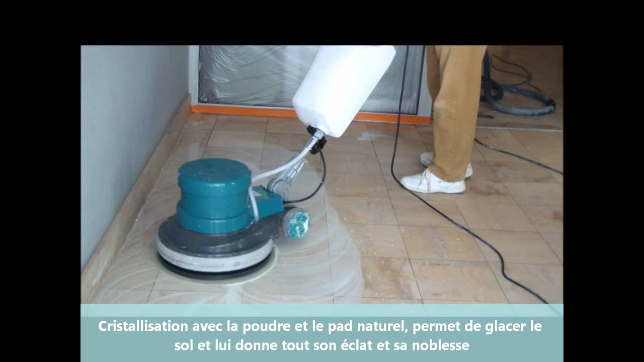 Renovation pon age de marbre cristallisation avec le kit 3 for Poncage carrelage