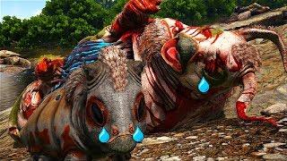 O BEBE GASBAS JURÁSSICO   FIQUEI TRISTE PELA MORTE DA MINHA MAMÃE! Ark Survival evolved