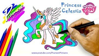 How To Draw Princess Celestia | My Little Pony Coloring Pages For Kids