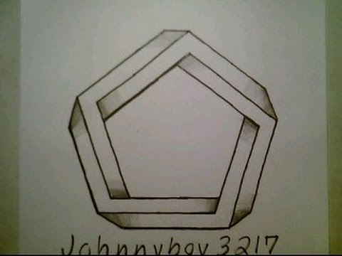 How To Draw The Impossible Pentagon Easy 3D Optical Illusion Step By Step Star