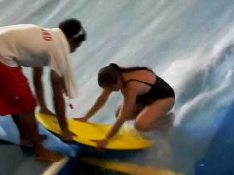 Rachel, Top Comes Off On Water Board Ride! video