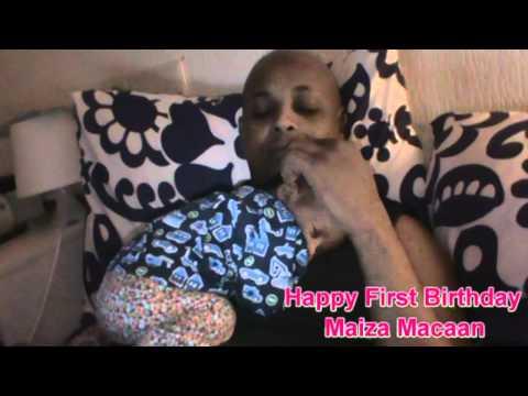 Heesti Hooyo macaan iyo Maiza Macaan--Happy first birthday Maiza 13-03-2012