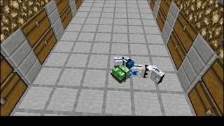 Minecraft animation:hallway swim