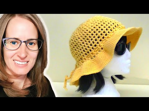 Mesh Sun Hat Crochet Tutorial