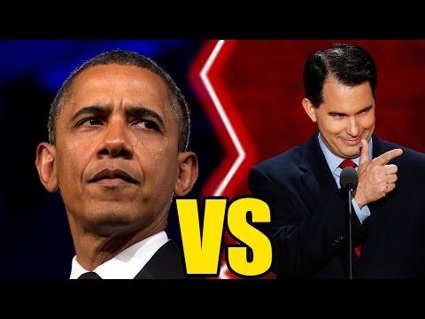 Obama Vs. Scott Walker : Verbal Battle Over Iran